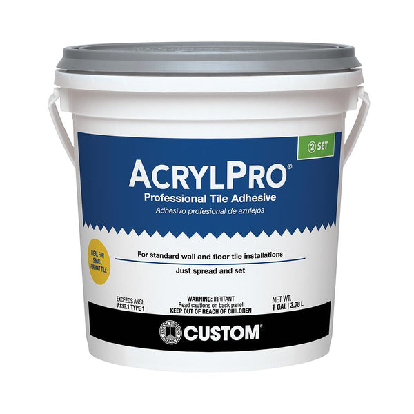 CARL40001-2 ACRYLPRO CERAMIC TILE ADHESIVE 1G (COVER 60SF) $17.99/BUCKET - Home Idol Vancouver