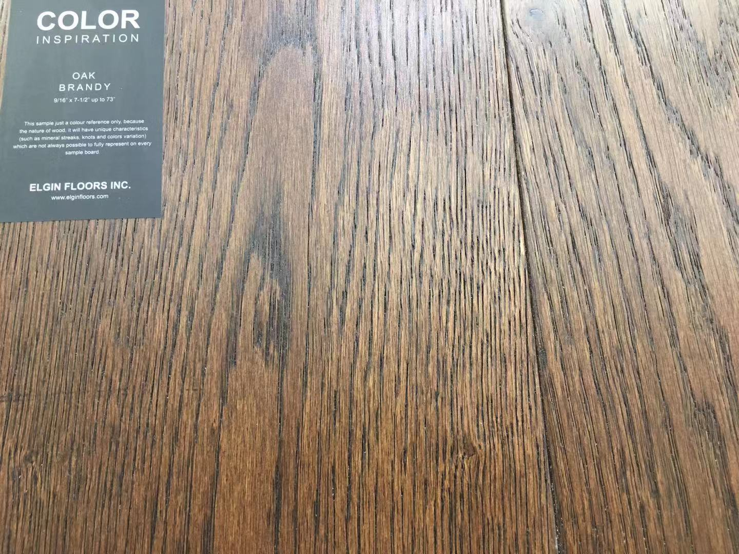 "SPX ORDER 1-2DAYS ENGINEERED HARDWOOD 7-1/2"" WIDTH 2MM TOP LAYER  OAK BRANDY $4.26/SF 23.33SF/BOX $99.49/BOX# - Home Idol Home Improvement Outlet"