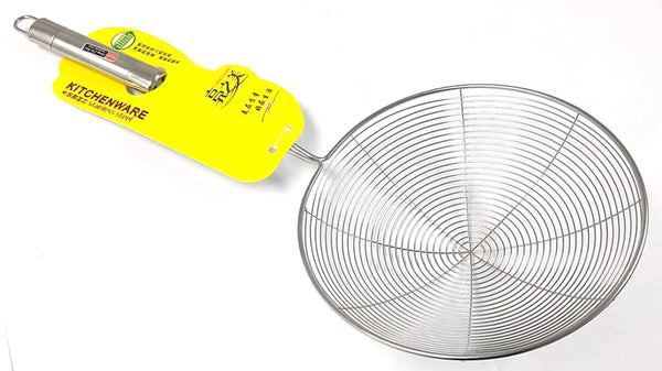 "9999 BIG ROUND STRAINER SPOON STAINLESS STEEL LIANGZHIMEI 20CM=8"" $2.75 - Home Idol Vancouver"