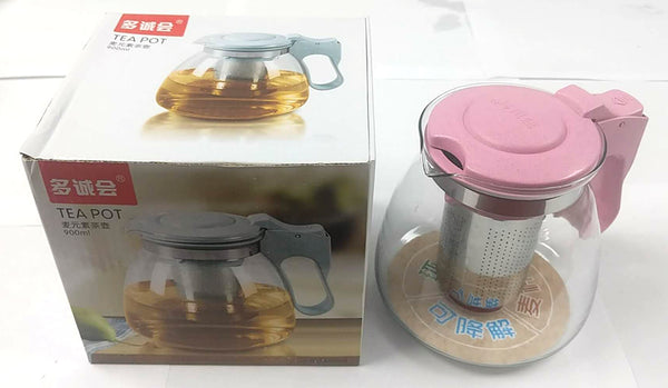 8005 GLASS TEA POT WITH STRAINER 900ML $3.99 - Home Idol Vancouver