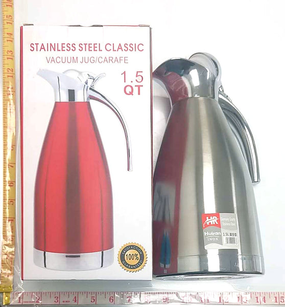 STAINLESS STEEL CLASSIC VACUUM JUG (COFFEE POT) 1.5L $9.5