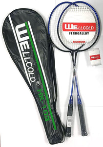 "HK-103 BADMINTON RACKETS WITH BAG WELLCOLD 2PC/BAG 26"" $4.99 - Home Idol Home Improvement Outlet"