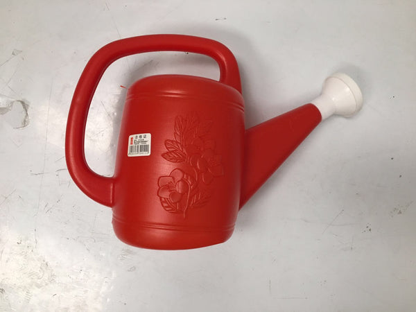 LARGE RED PLASTIC WATER POT , GARDEN POT $2.75