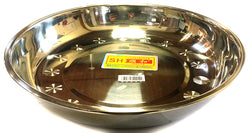 "08A LARGE SHUNHE ROUND PLATE STAINLESS STEEL 30CM=12.5"" $2.75 - Home Idol Vancouver"