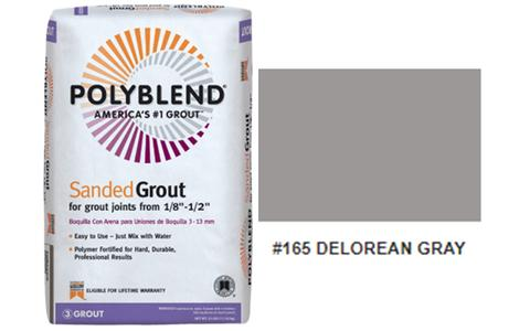 #165 DELOREAN GRAY SANDED GROUT 25LB $15.50/BAG - Home Idol Vancouver