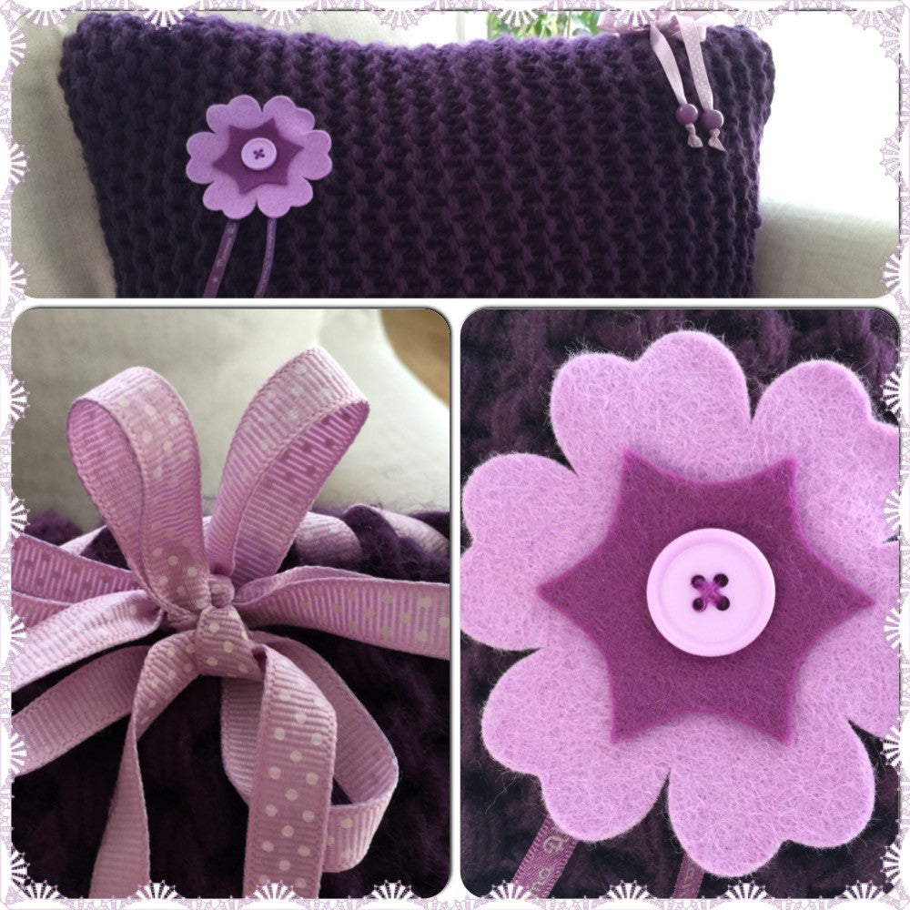Knitted Cushion - Alessandra Handmade Creations