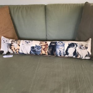 All my Kittens - Bolster Cushion - Alessandra Handmade Creations