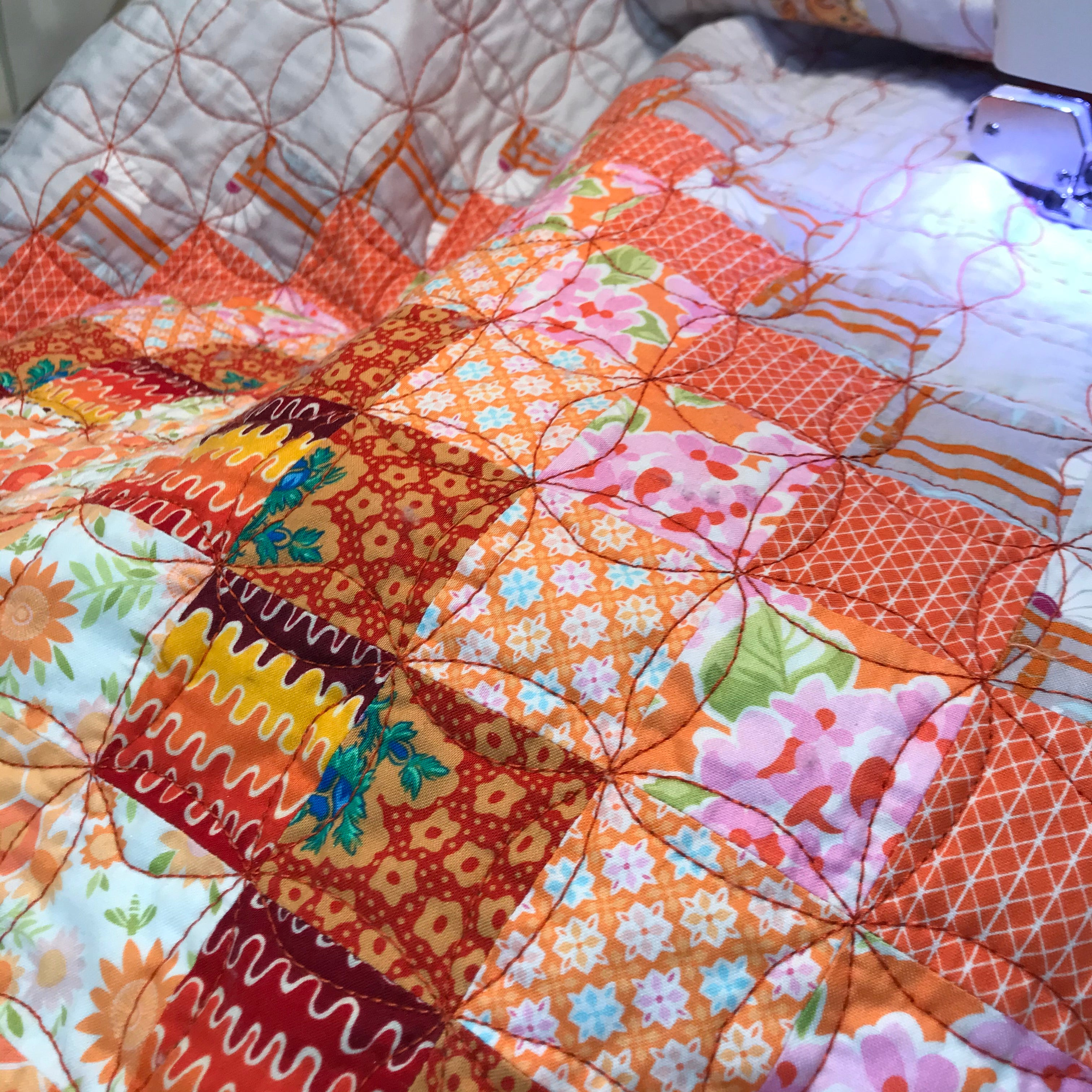 Mostly Sunny - Patchwork Quilt - Alessandra Handmade Creations