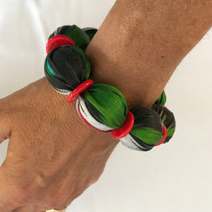 Textile Bead Bangle - Alessandra Handmade Creations