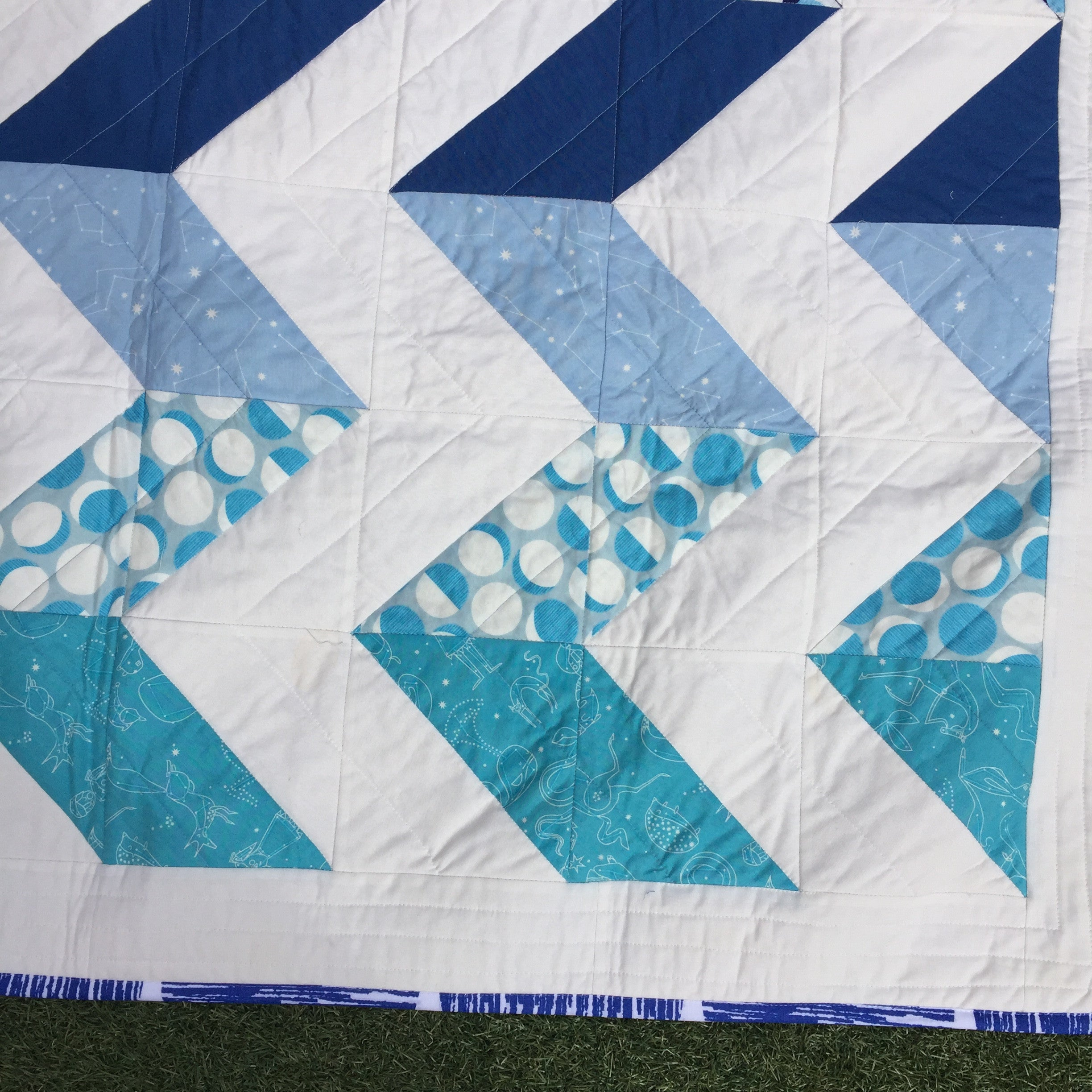 Kind of Blue Quilt - Alessandra Handmade Creations