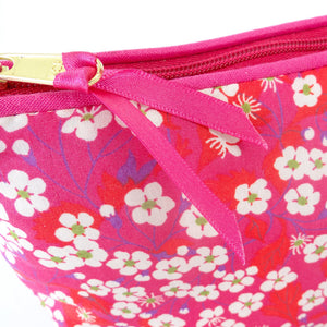 Cosmetic Bag Mitsi Hot Pink - Alessandra Handmade Creations