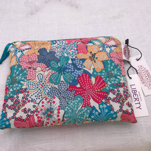 Liberty Small Flat Purse Mauvey - Alessandra Handmade Creations