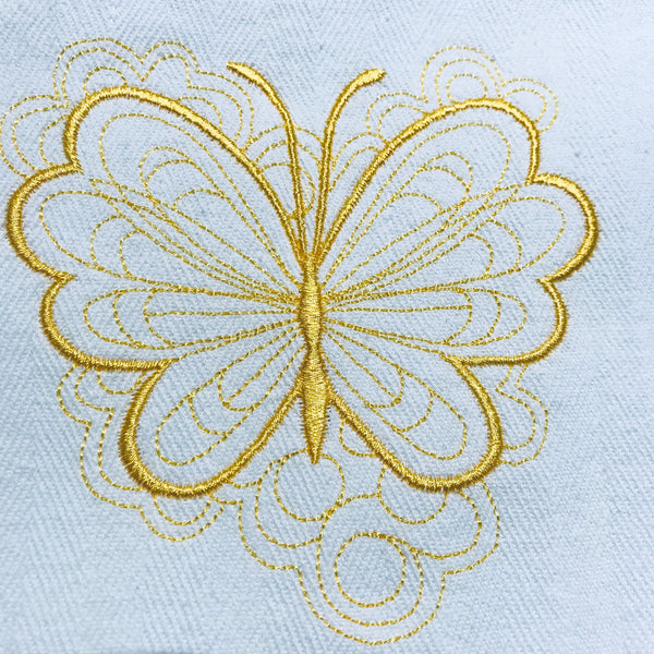 Yellow Butterflies Tea Towels Collection ??? - Alessandra Handmade Creations