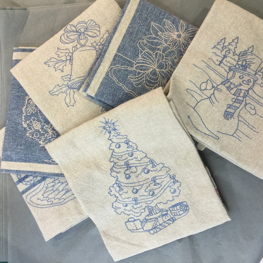 Blue Christmas Gift Set with Box - Alessandra Handmade Creations