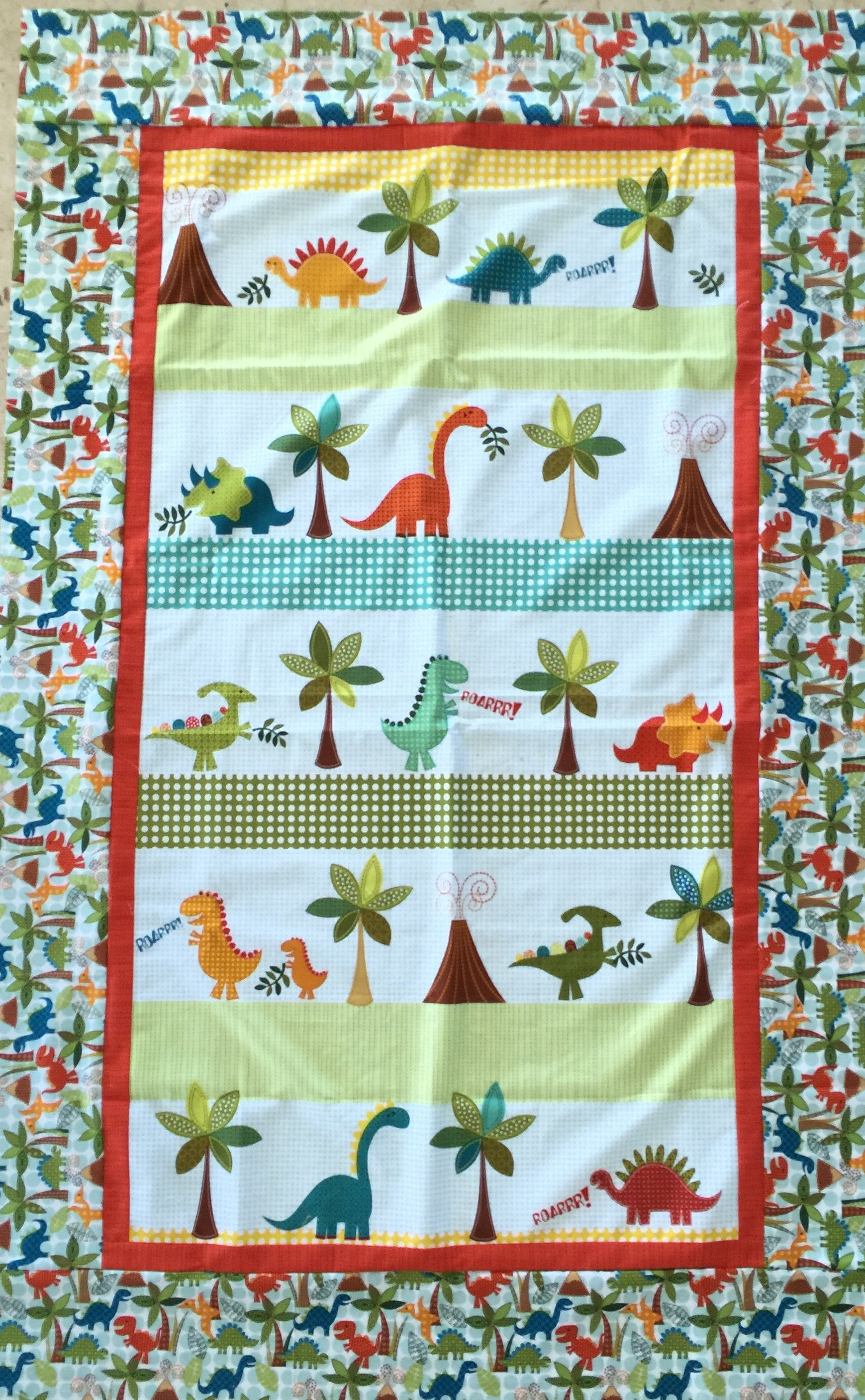 Dino Baby Blanket Quilt - Alessandra Handmade Creations
