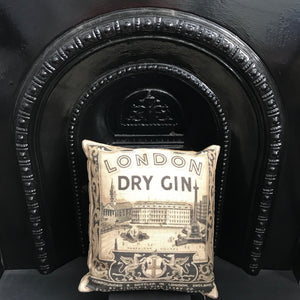 London Dry Gin Cushion - Alessandra Handmade Creations
