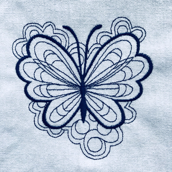 Blue Butterflies Tea Towel Collection - Alessandra Handmade Creations
