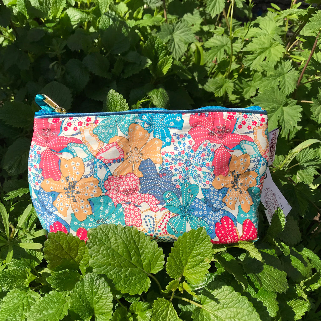 Liberty Cosmetic Bag Mauvey - Alessandra Handmade Creations