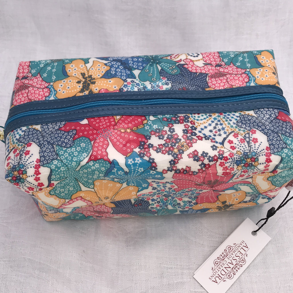 Liberty Box Cosmetic Bag - Mauvey - Alessandra Handmade Creations