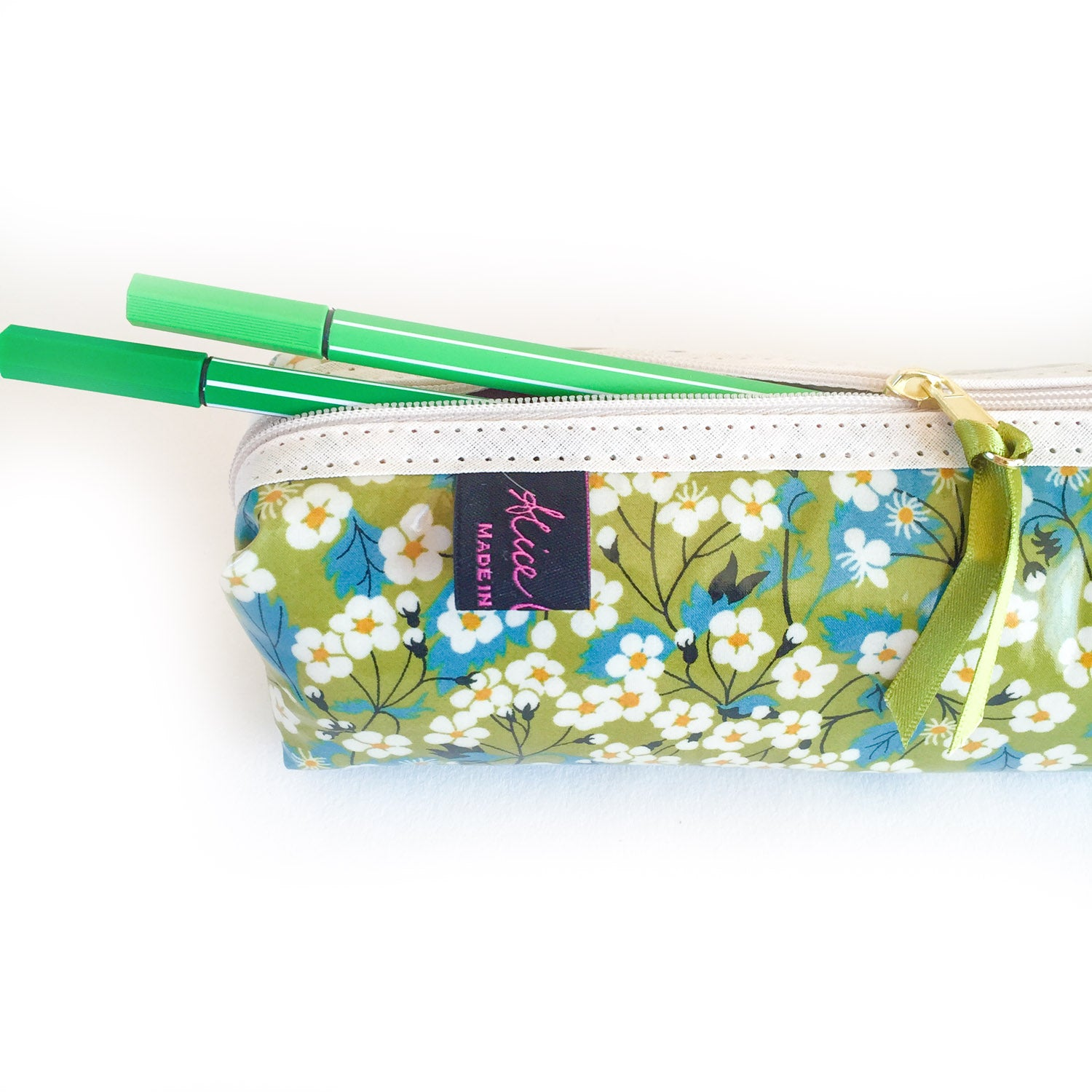 Box Pencil Case Mitsi Green - Alessandra Handmade Creations