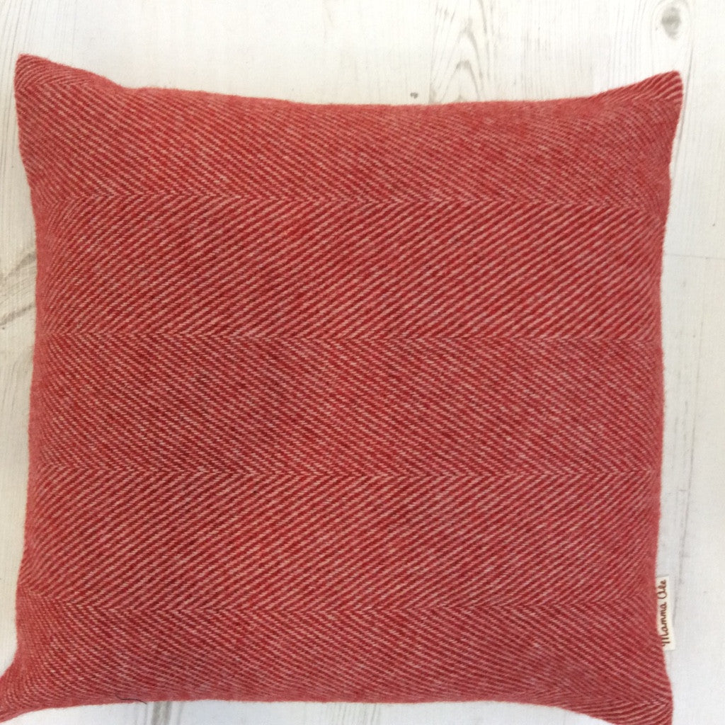 "Donegal Tweed ""Red"" Cushion - Alessandra Handmade Creations"