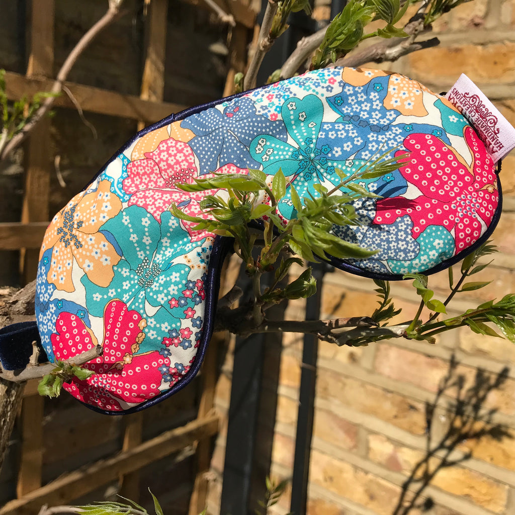 Liberty Eye Mask Mauvey - Alessandra Handmade Creations