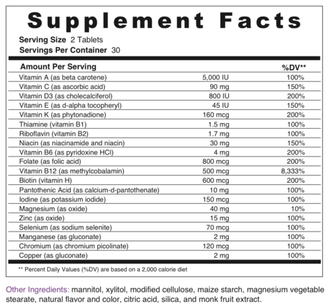 BariMelts nutritional information.