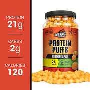 21 grams of protein per serving protein puffs.