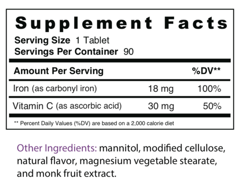 what vitamin number is iron