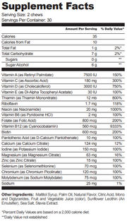 Bariatric Fusion Cherry Pineapple Nutritional Information