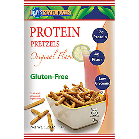 Kay's Naturals Gluten-Free Protein Pretzel Sticks, Original, 1.2 Ounce (Pack of 6)