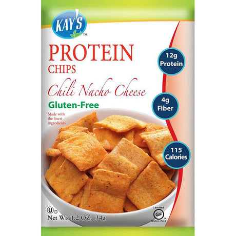 Kay's Naturals Gluten-Free Protein Chips, Chili Nacho Cheese, 1.2 Ounce (Pack of 6)