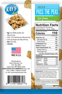 Chickpea protein dill pickle nutrition label.