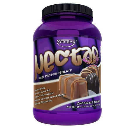 Chocolate truffle protein powder by Nectar.