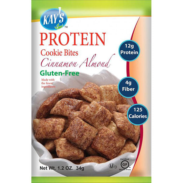 Kay's Naturals Gluten-Free Protein Cookie Bites, Cinnamon Almond, 1.2 oz (Pack of 6)