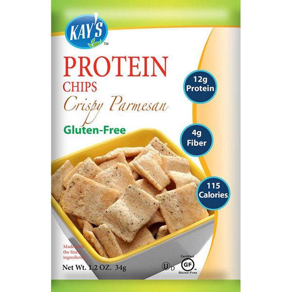 Kay's Naturals Gluten-Free Protein Chips, Parmesan, (Pack of 6)
