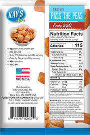 Chickpea protein nutrition label