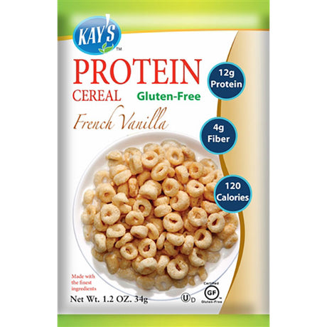 Kay's Naturals Gluten-Free High Protein Cereal, French Vanilla (Pack of 6)
