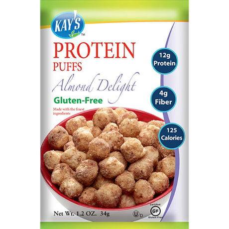 Protein puffs, almond delight flavor.