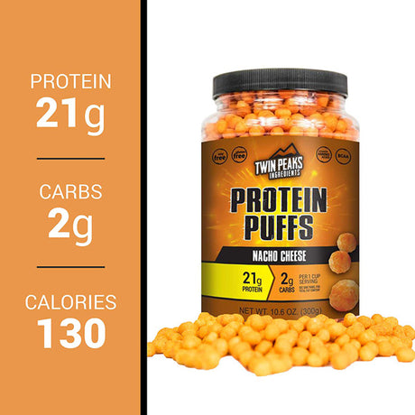 21 grams protein - nacho cheese flavor