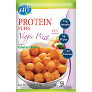Low carb high protein puffs - veggie pizza flavor.
