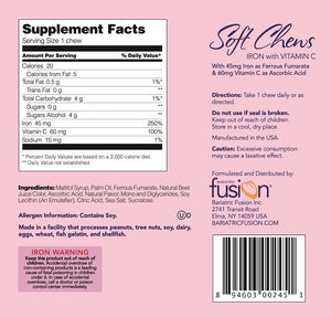 Bariatric Fusion Iron Soft Chews