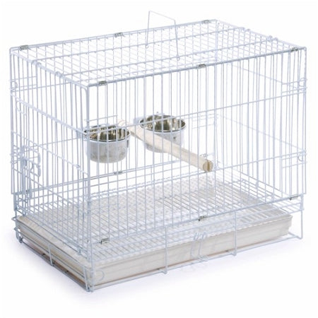 White Travel Bird Cage