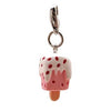 3-D Strawberry Ice Cream Dog Collar Charm by Klippo