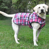 Alpine All-Weather Dog Coat - Flannel Raspberry Pink and Turquoise Plaid