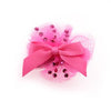 Ballerina Dog Bow with Alligator Clip - Hot Pink