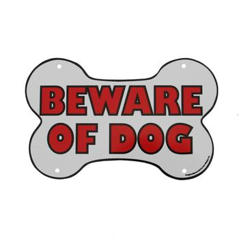 Beware of Dog Sign - Bone Shaped