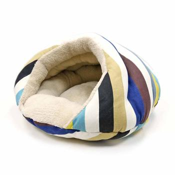 Burger Dog Bed by Dogo - Blue Stripes