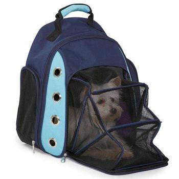 Casual Canine Ultimate Backpack Pet Carrier - Blue - 4 Pet Supply