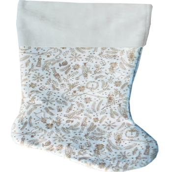Cream Holiday Whimsy Pet Christmas Stocking